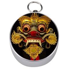 Bali Mask Silver Compasses