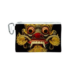 Bali Mask Canvas Cosmetic Bag (S)
