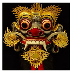 Bali Mask Large Satin Scarf (Square)