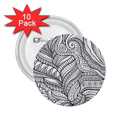 Zentangle Art Patterns 2.25  Buttons (10 pack)