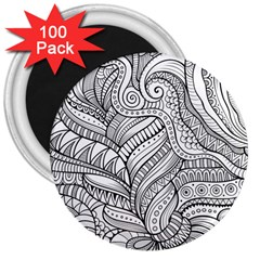 Zentangle Art Patterns 3  Magnets (100 pack)