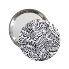 Zentangle Art Patterns 2.25  Handbag Mirrors