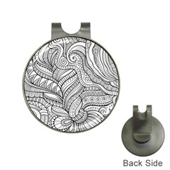 Zentangle Art Patterns Hat Clips with Golf Markers