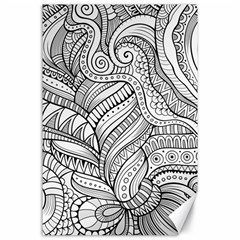 Zentangle Art Patterns Canvas 24  x 36