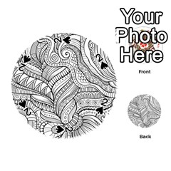 Zentangle Art Patterns Playing Cards 54 (Round)