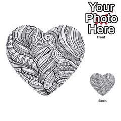 Zentangle Art Patterns Multi-purpose Cards (Heart)