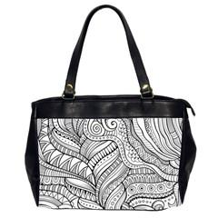 Zentangle Art Patterns Office Handbags (2 Sides)
