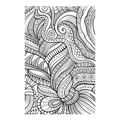Zentangle Art Patterns Shower Curtain 48  x 72  (Small)