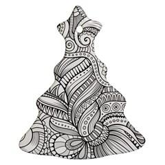 Zentangle Art Patterns Ornament (Christmas Tree)