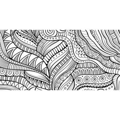 Zentangle Art Patterns YOU ARE INVITED 3D Greeting Card (8x4)