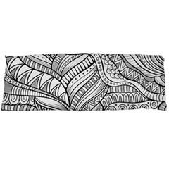 Zentangle Art Patterns Body Pillow Case (Dakimakura)