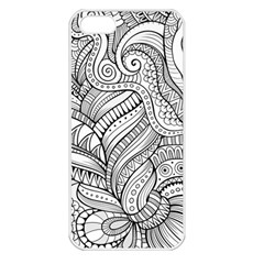 Zentangle Art Patterns Apple iPhone 5 Seamless Case (White)