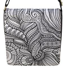 Zentangle Art Patterns Flap Messenger Bag (S)