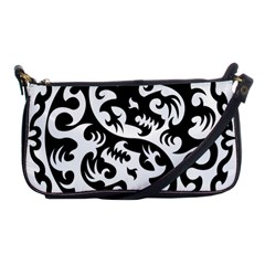 Ying Yang Tattoo Shoulder Clutch Bags