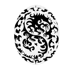 Ying Yang Tattoo Oval Filigree Ornament (2-Side)