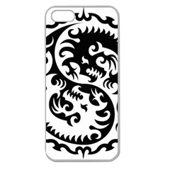 Ying Yang Tattoo Apple Seamless iPhone 5 Case (Clear)