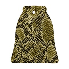 Yellow Snake Skin Pattern Bell Ornament (2 Sides)