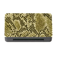 Yellow Snake Skin Pattern Memory Card Reader with CF