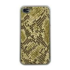 Yellow Snake Skin Pattern Apple iPhone 4 Case (Clear)
