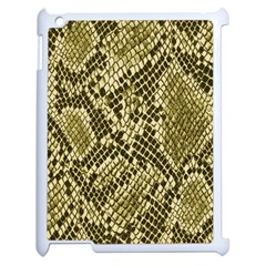 Yellow Snake Skin Pattern Apple iPad 2 Case (White)