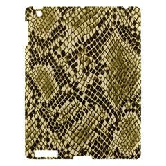 Yellow Snake Skin Pattern Apple iPad 3/4 Hardshell Case
