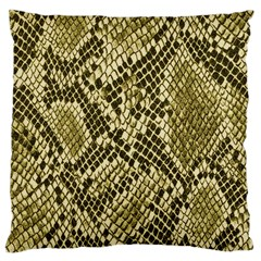 Yellow Snake Skin Pattern Large Cushion Case (One Side)