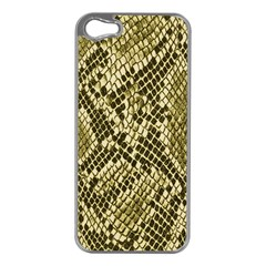 Yellow Snake Skin Pattern Apple iPhone 5 Case (Silver)