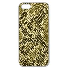 Yellow Snake Skin Pattern Apple Seamless iPhone 5 Case (Clear)