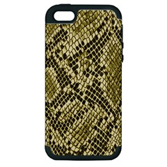 Yellow Snake Skin Pattern Apple iPhone 5 Hardshell Case (PC+Silicone)