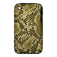Yellow Snake Skin Pattern Apple iPhone 3G/3GS Hardshell Case (PC+Silicone)