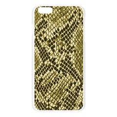 Yellow Snake Skin Pattern Apple Seamless iPhone 6 Plus/6S Plus Case (Transparent)
