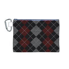 Wool Texture With Great Pattern Canvas Cosmetic Bag (M)
