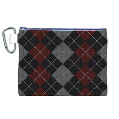 Wool Texture With Great Pattern Canvas Cosmetic Bag (XL)