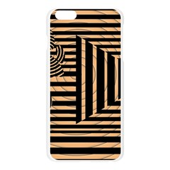 Wooden Pause Play Paws Abstract Oparton Line Roulette Spin Apple Seamless iPhone 6 Plus/6S Plus Case (Transparent)