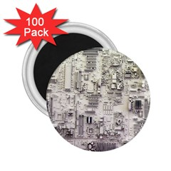 White Technology Circuit Board Electronic Computer 2.25  Magnets (100 pack)