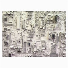 White Technology Circuit Board Electronic Computer Collage Prints