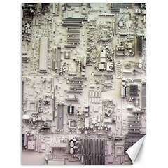 White Technology Circuit Board Electronic Computer Canvas 12  x 16
