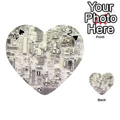 White Technology Circuit Board Electronic Computer Playing Cards 54 (Heart)