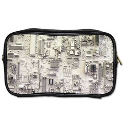 White Technology Circuit Board Electronic Computer Toiletries Bags