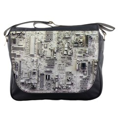 White Technology Circuit Board Electronic Computer Messenger Bags