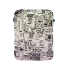 White Technology Circuit Board Electronic Computer Apple iPad 2/3/4 Protective Soft Cases