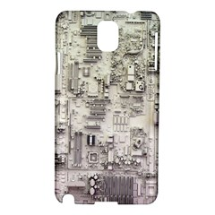 White Technology Circuit Board Electronic Computer Samsung Galaxy Note 3 N9005 Hardshell Case