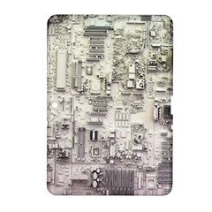 White Technology Circuit Board Electronic Computer Samsung Galaxy Tab 2 (10.1 ) P5100 Hardshell Case