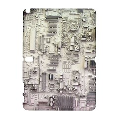 White Technology Circuit Board Electronic Computer Samsung Galaxy Note 10.1 (P600) Hardshell Case