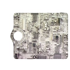 White Technology Circuit Board Electronic Computer Kindle Fire HDX 8.9  Flip 360 Case