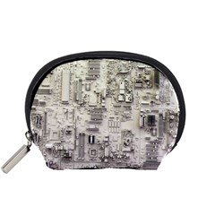 White Technology Circuit Board Electronic Computer Accessory Pouches (Small)