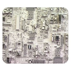 White Technology Circuit Board Electronic Computer Double Sided Flano Blanket (Small)