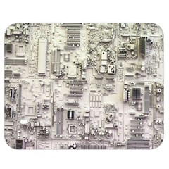 White Technology Circuit Board Electronic Computer Double Sided Flano Blanket (Medium)