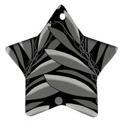 Gray plant design Ornament (Star)
