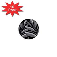 Gray plant design 1  Mini Magnet (10 pack)